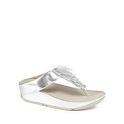 FitFlop - Silver 'Cha Cha' mid flatform heel flip flops