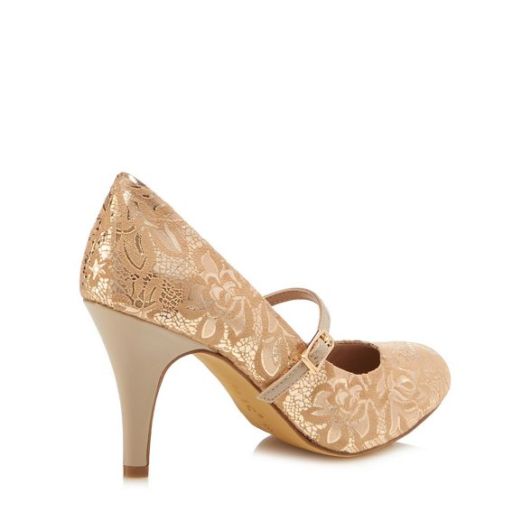 heel lace mary janes Lotus stiletto 'Fuzina' Gold high XnnZp4