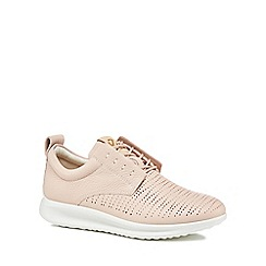ECCO - Pink leather 'Aquet' trainers
