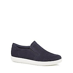 ECCO - Navy suede 'Soft 1' slip-on trainers