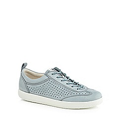 ECCO - Blue suede 'Soft 1' trainers
