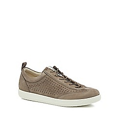 ECCO - Taupe suede 'Soft 1' trainers