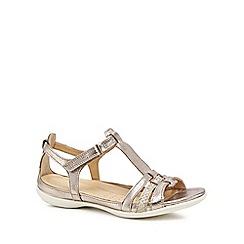 ECCO - Metallic leather 'Flash' sandals