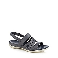 ECCO - Navy leather 'Flash' sandals