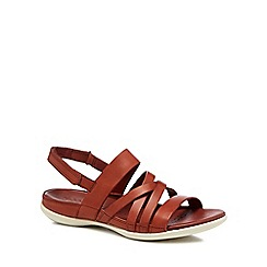 ECCO - Terracotta leather 'Flash' sandals
