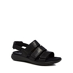 ECCO - Black leather 'Soft 5' sandals