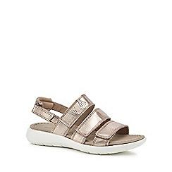 ECCO - Metallic leather 'Soft 5' sandals