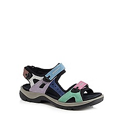 ECCO - Multi-coloured nubuck 'Off Road' sandals