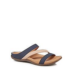 Strive - Navy leather 'Trio' sandals
