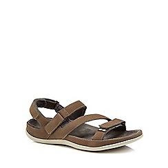 Strive - Khaki leather 'Montana' sandals