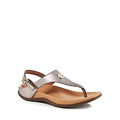Strive - Metallic leather 'Tropez' ankle strap sandals