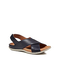 Strive - Navy leather 'Venice' sandals