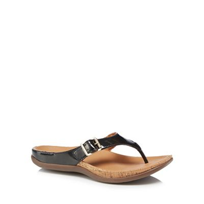 Strive - Black patent leather 'Alba Buckle' sandals