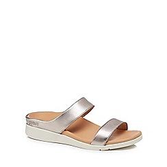 Strive - Metallic leather 'Faro' sandals