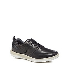 Strive - Black leather 'Maine' trainers