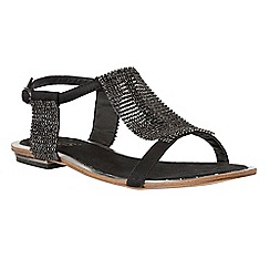 Lotus - Black diamante 'Agnetha' T-bar sandals