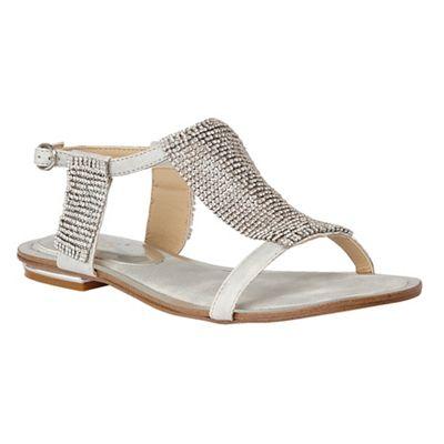 Lotus - Silver diamante 'Agnetha' T-bar sandals