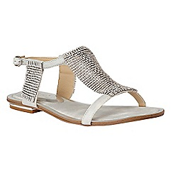 Lotus - Silver diamante 'Agnetha' T-bar sandals