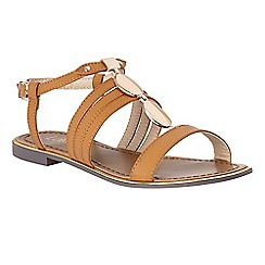 Lotus - Tan 'Alpine' T-bar sandals