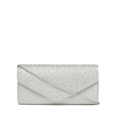 Lotus   Silver Diamante Embellished Clutch Bag by Lotus