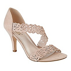 Lotus - Natural diamante 'Cattleya' high stiletto heel peep toe sandals