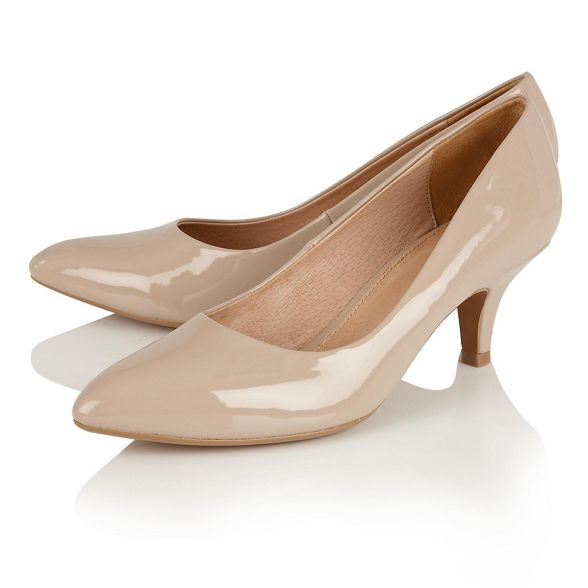 mid 'Clio' Lotus Natural shoes court heel kitten patent zBqCgx8tCw