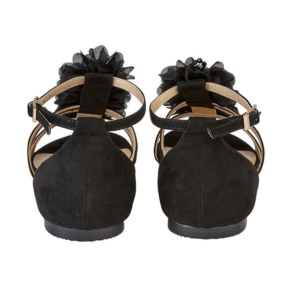 strap 'Elise' Black Lotus ankle suedette sandals IgORqSw