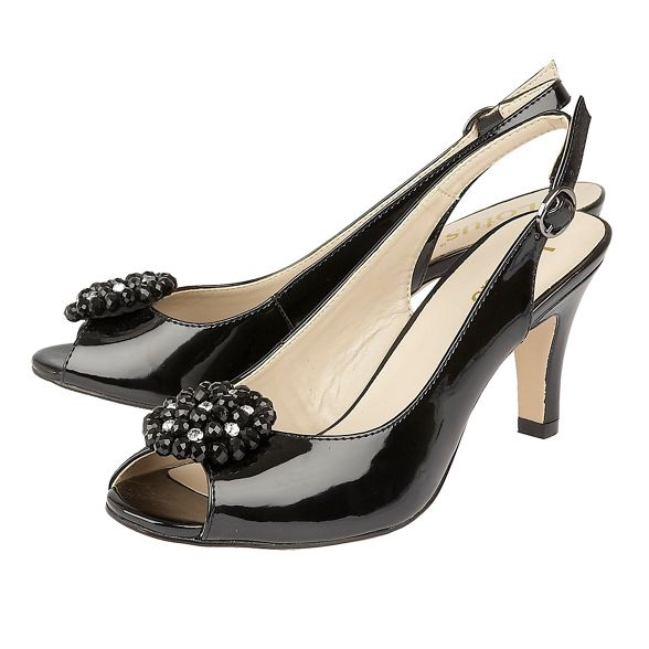 patent heel Lotus 'Elodie' high slingbacks Black stiletto nXPpxP58z