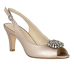 Lotus - Metallic 'Elodie' high stiletto heel slingbacks