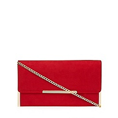 Lotus - Red suedette 'Flamina' clutch bag