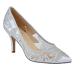 Lotus - Silver glitter 'Arlind' High stiletto heel pointed shoes