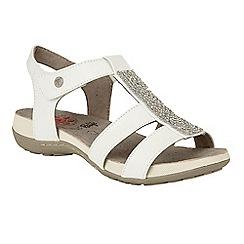 Lotus - White 'Janssen' T-bar sandals