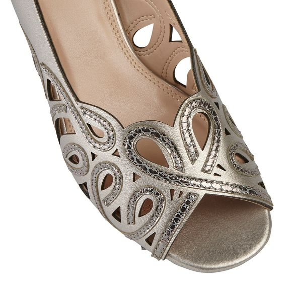 mid grey Dark heel block 'Marianna' slingbacks Lotus zqtwv5x5