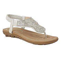 Lotus - Silver diamante 'Marieta' sandals
