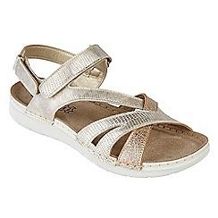 Lotus - Gold 'Sangallo' peep toe sandals