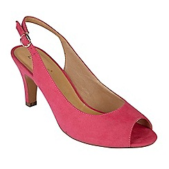 Lotus - Bright pink suedette 'Sommer' high stiletto heel slingbacks