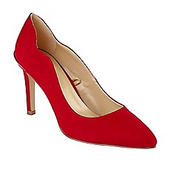 Lotus - Red suedette 'Tyler' high stiletto heel court shoes