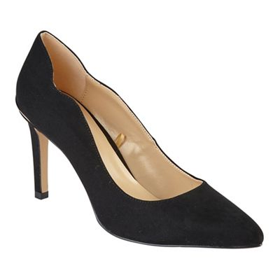 Lotus - Black heel diamante 'Star' high stiletto heel Black pointed shoes 8809fc
