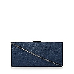 Lotus - Navy glitter 'Vibe' clutch bag