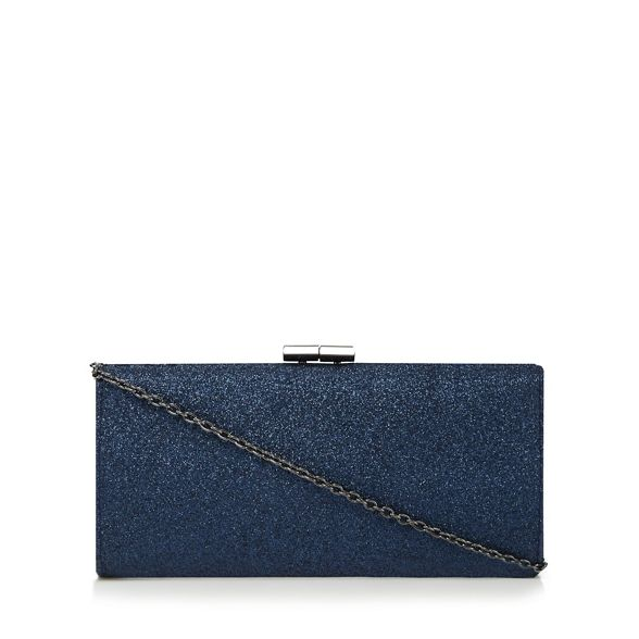 Navy clutch 'Vibe' Lotus glitter bag aqYdtvw