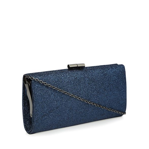 bag clutch Lotus Navy glitter 'Vibe' PwIx4XxqU