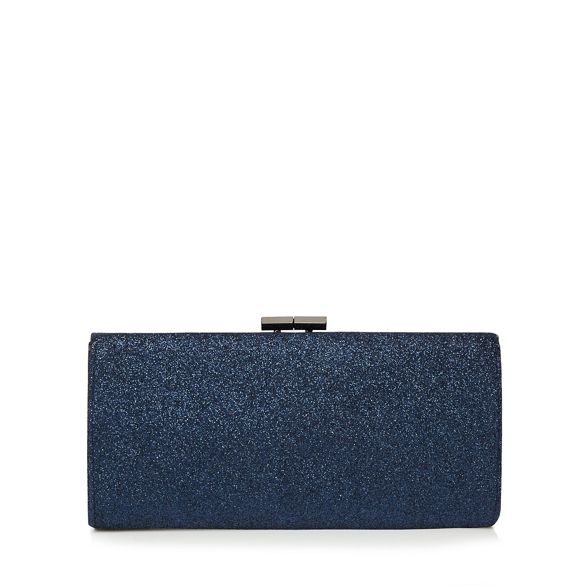 Lotus clutch bag Navy glitter 'Vibe' qOrZWOt
