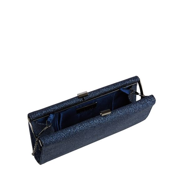 Navy Lotus bag clutch glitter 'Vibe' TxYYwdfqU