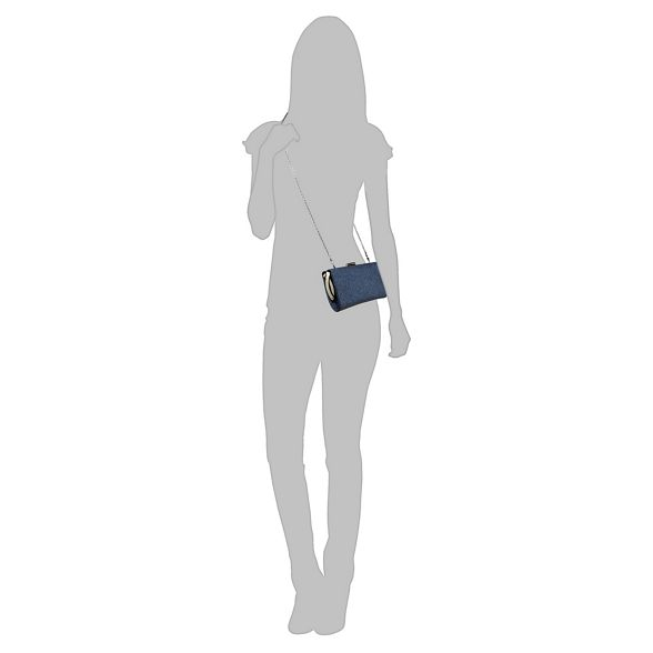 Lotus bag 'Vibe' glitter Navy clutch fpf0Yq