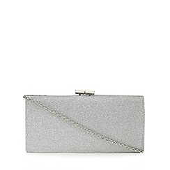 Lotus - Silver glitter 'Vibe' clutch bag