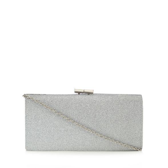 'Vibe' clutch bag glitter Silver Lotus xCzqw7qO