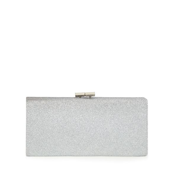 glitter bag Silver 'Vibe' Lotus clutch Snpq5xxR