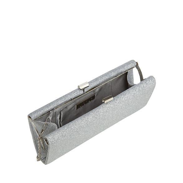 Lotus glitter clutch bag 'Vibe' Silver rPK5Tr