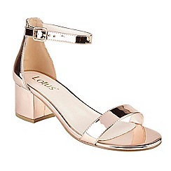 Lotus - Rose 'Vitus' mid block heel ankle strap sandals