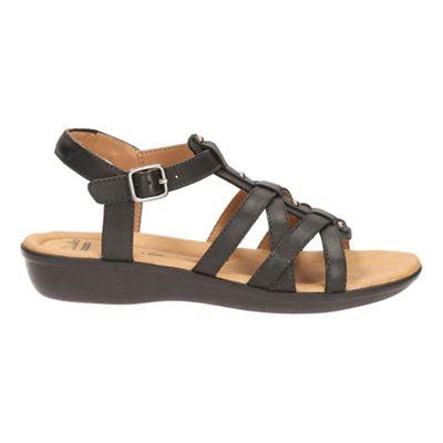 Clarks - Black leather 'Manilla Bonita' sandals